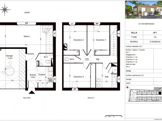 Vente Maison 4 pièces MERIGNAC 33700
