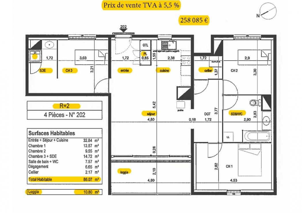 Vente Appartement 4 pièces LORMONT 33310